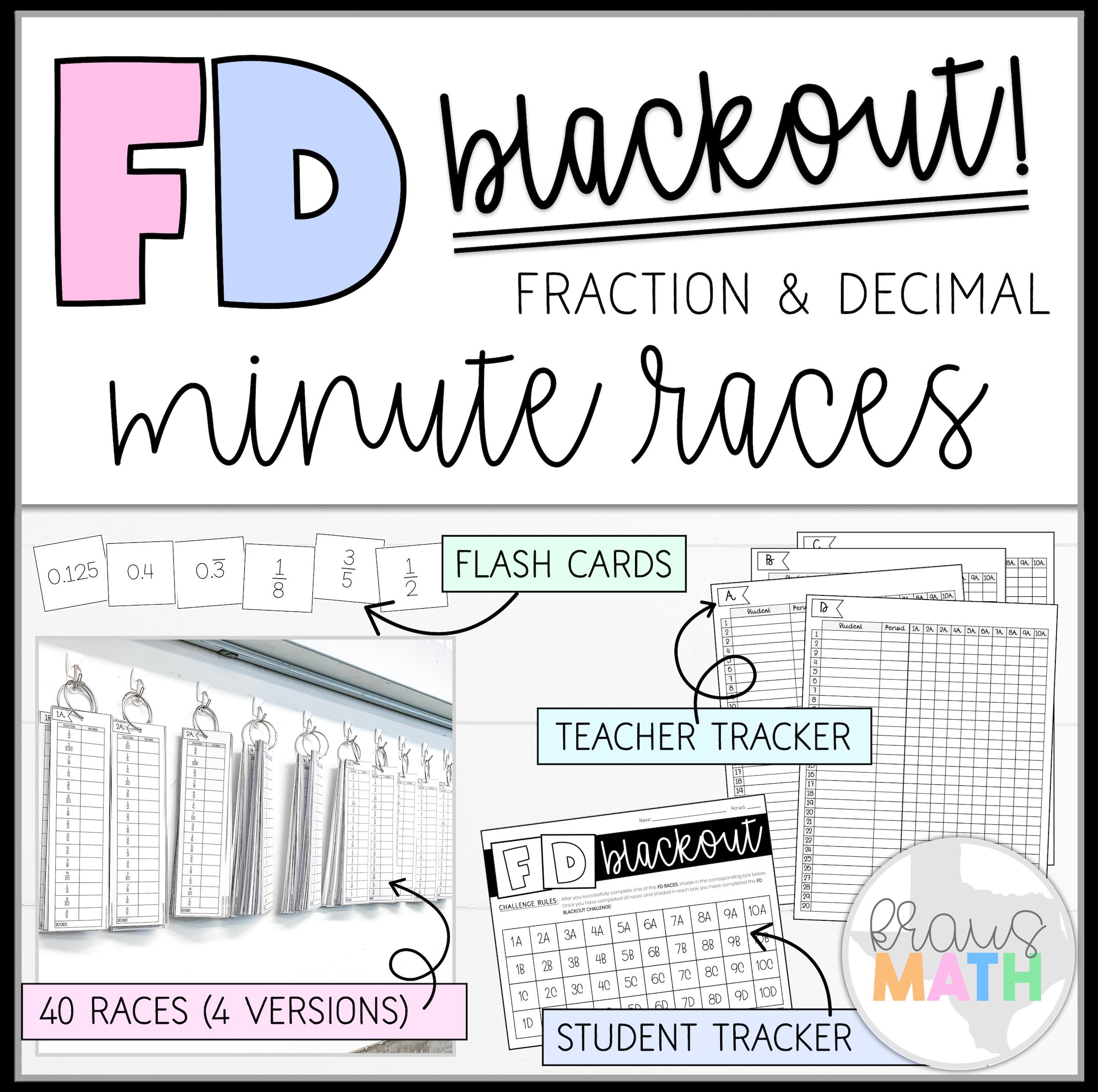 Fraction Amp Decimal Minutes Races Fd Blackout