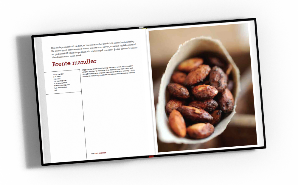 Ørjan kokebok oppslag Brente mandler
