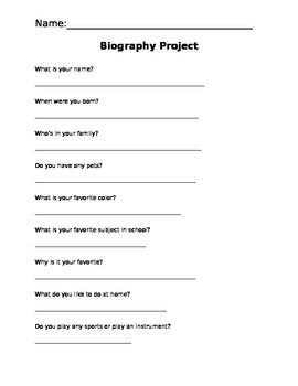 Good interview questions to write a biography imitating essay