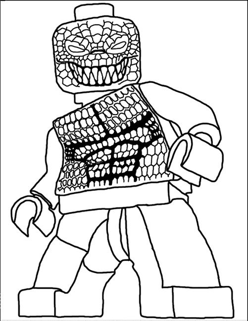 lego killer croc coloring pages Movie Pinterest Killer croc - new easy lego coloring pages