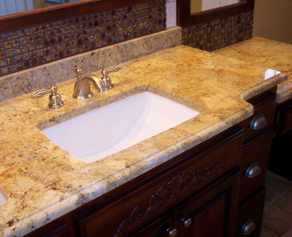 Cultured Marble Vanity Tops | NEW! Cream Travina Vanity Top With White  Undermount Bowl.