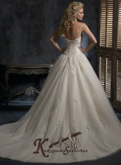 Inexpensive Wedding Dresses Discount Online Buy Strapless Corset Gowns 389x529