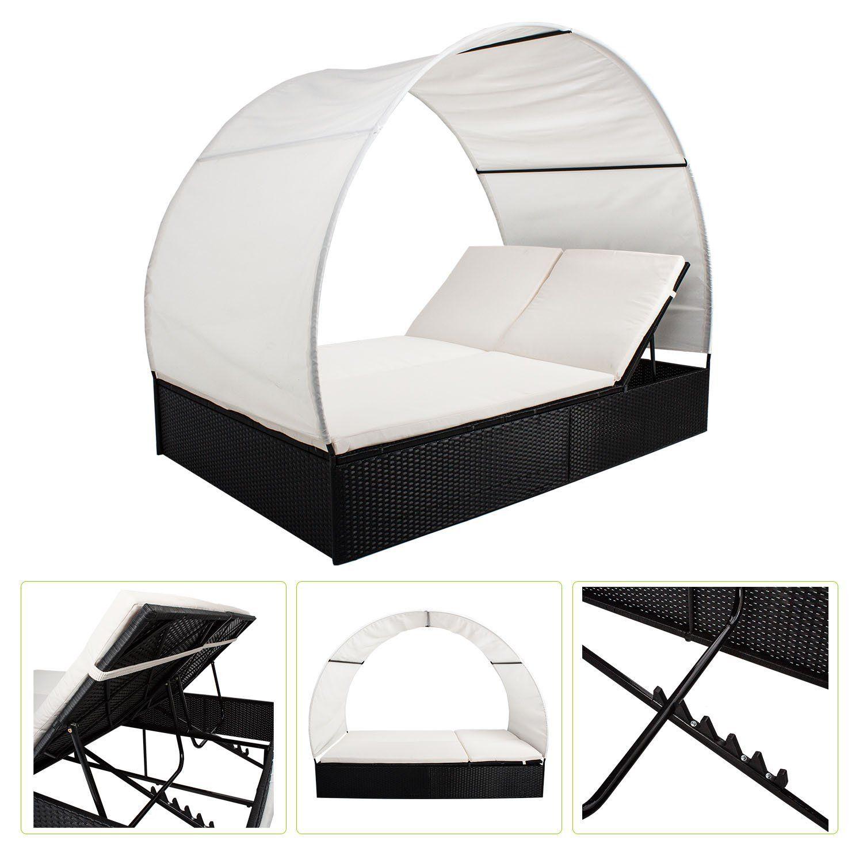 Amazon.de: Polyrattan Gartenmöbel Sonnenliege Lounge Ibiza XL mit ...