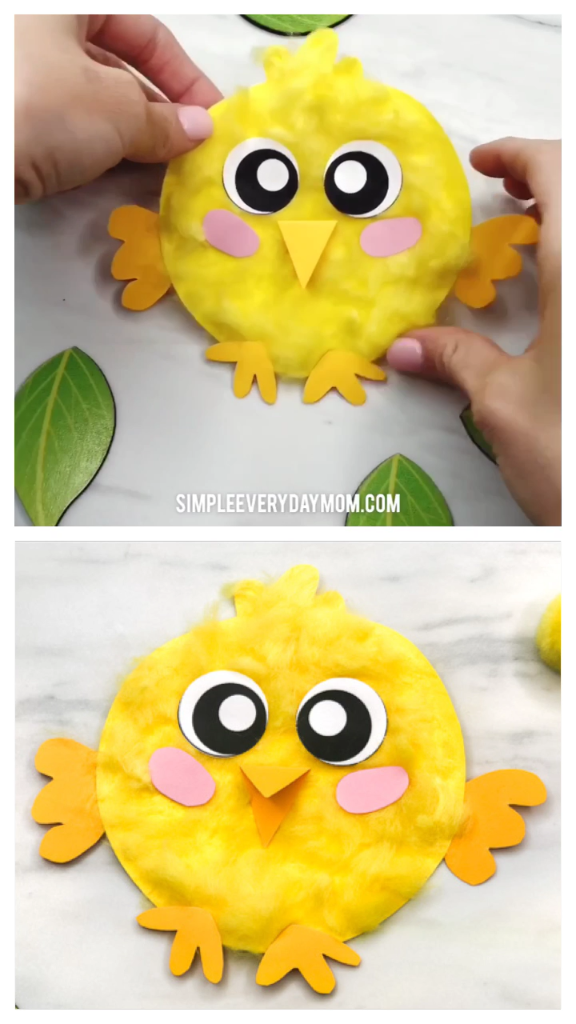 Cute & Easy Fluffy Chick Craft For Kids #craftsforkids