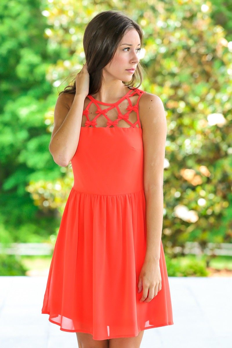 Exceed Expectations Dress-Flame - $49.00