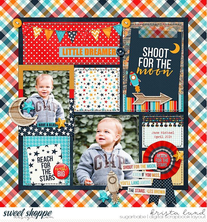 Shoot For The Moon Kids scrapbook, Photo