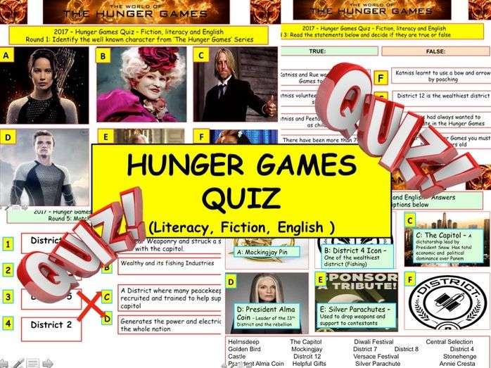 2017 - Hunger Games Quiz (Fiction, Literacy) - 7 rounds ...