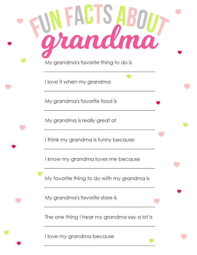 Mothers Day Printable For Grandma