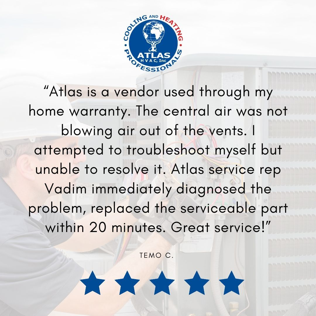 """""""Atlas is a vendor used through my home warranty. The"""
