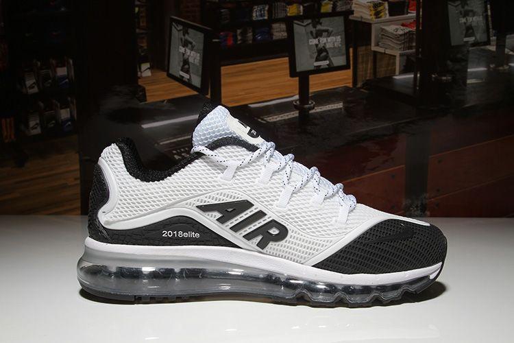1980bd9f62 Men's Nike Air Max 2018 Elite KPU TPU Shoes White/Black [1-1710AXMM-3] -  $79.00
