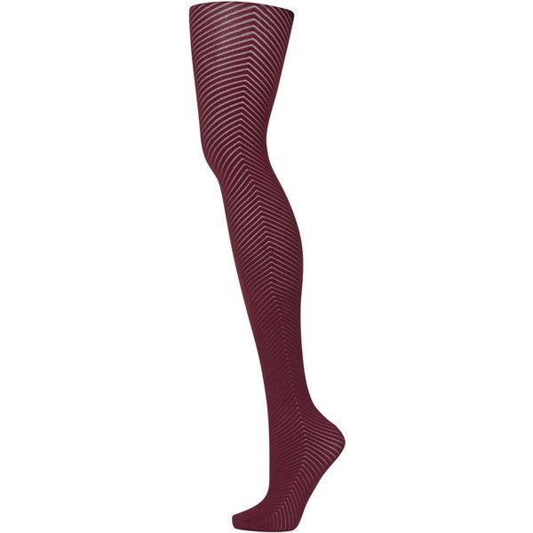 TOPSHOP Opaque Chevron Tights (17 CAD) ❤ liked on Polyvore featuring intimates, hosiery, tights, berry, print tights, nylon pantyhose, opaque pantyhose, topshop and opaque patterned tights