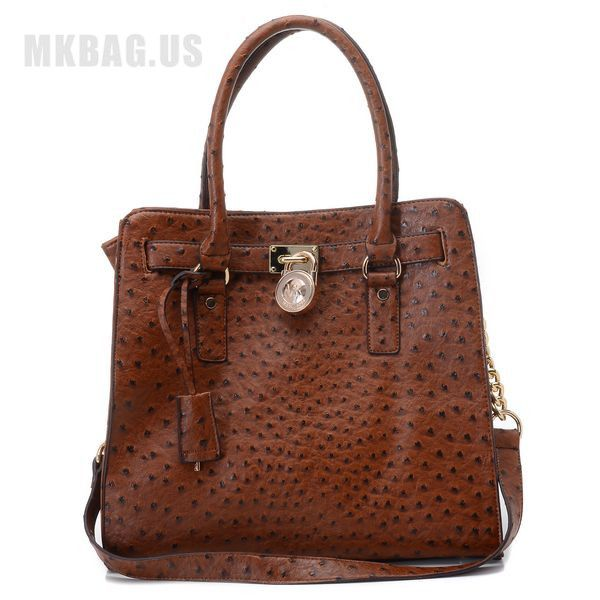 80dd4d3205ba MICHAEL Michael Kors Large Hamilton Ostrich-Embosesd Tote Luggage Items  Description   Luggage ostrich-