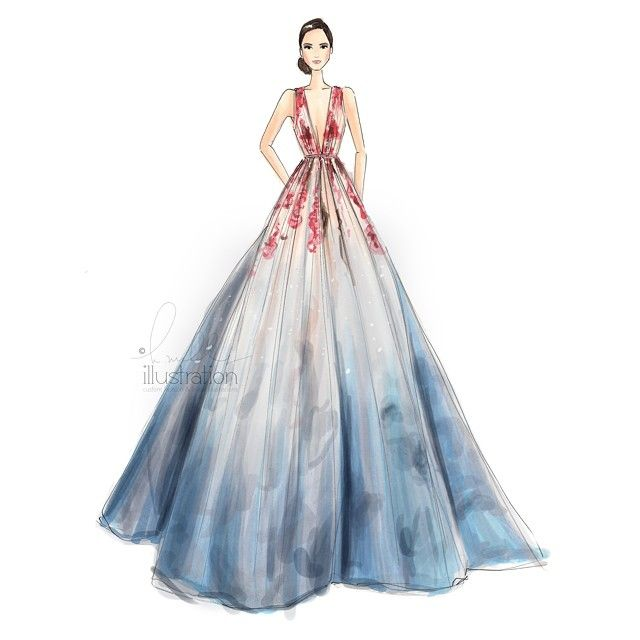 Dessin robe haute couture