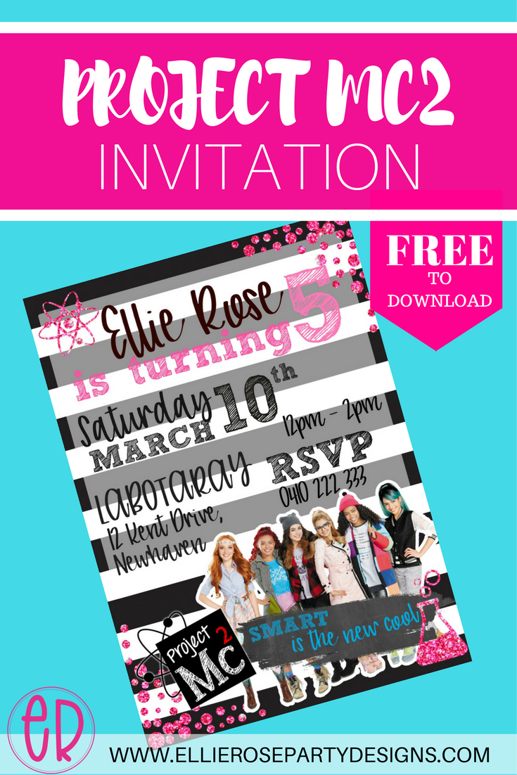 Free project mc2 party invitation to use and download little girls free project mc2 party invitation to use and download little girls new favourite tv show stopboris Choice Image