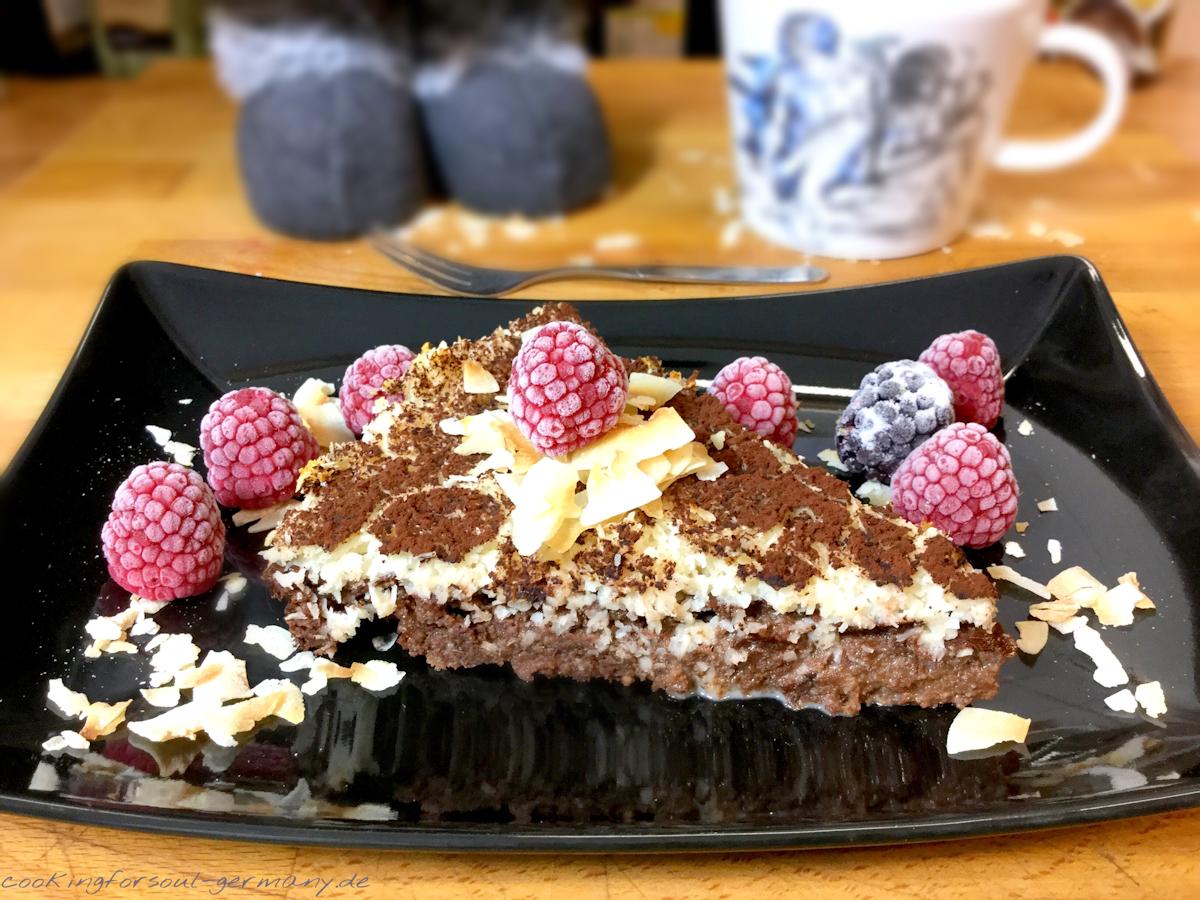 Saftiger Schokoladen Kokos Kuchen Ohne Zucker Lowcarb Backen Mit