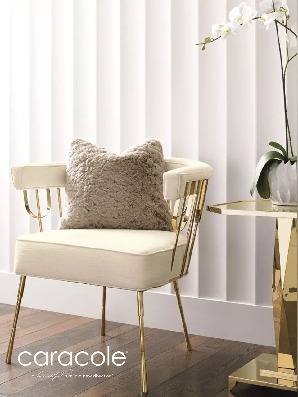 White And Gold Chair Caracole Egypt Interior Furniture In