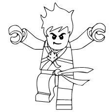 Top 40 free printable ninjago coloring pages online for Jay ninjago coloring pages