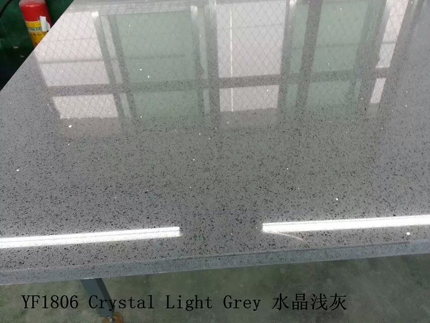 Gray Colour Engineered Quartz Countertop Slabs