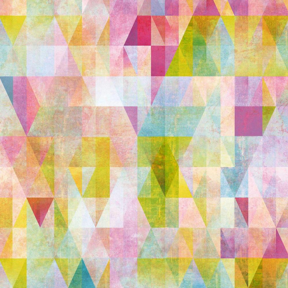 Multicolor Geo Prisms Peel And Stick Wallpaper Peel And Stick Wallpaper Wallpaper Geometric Wallpaper