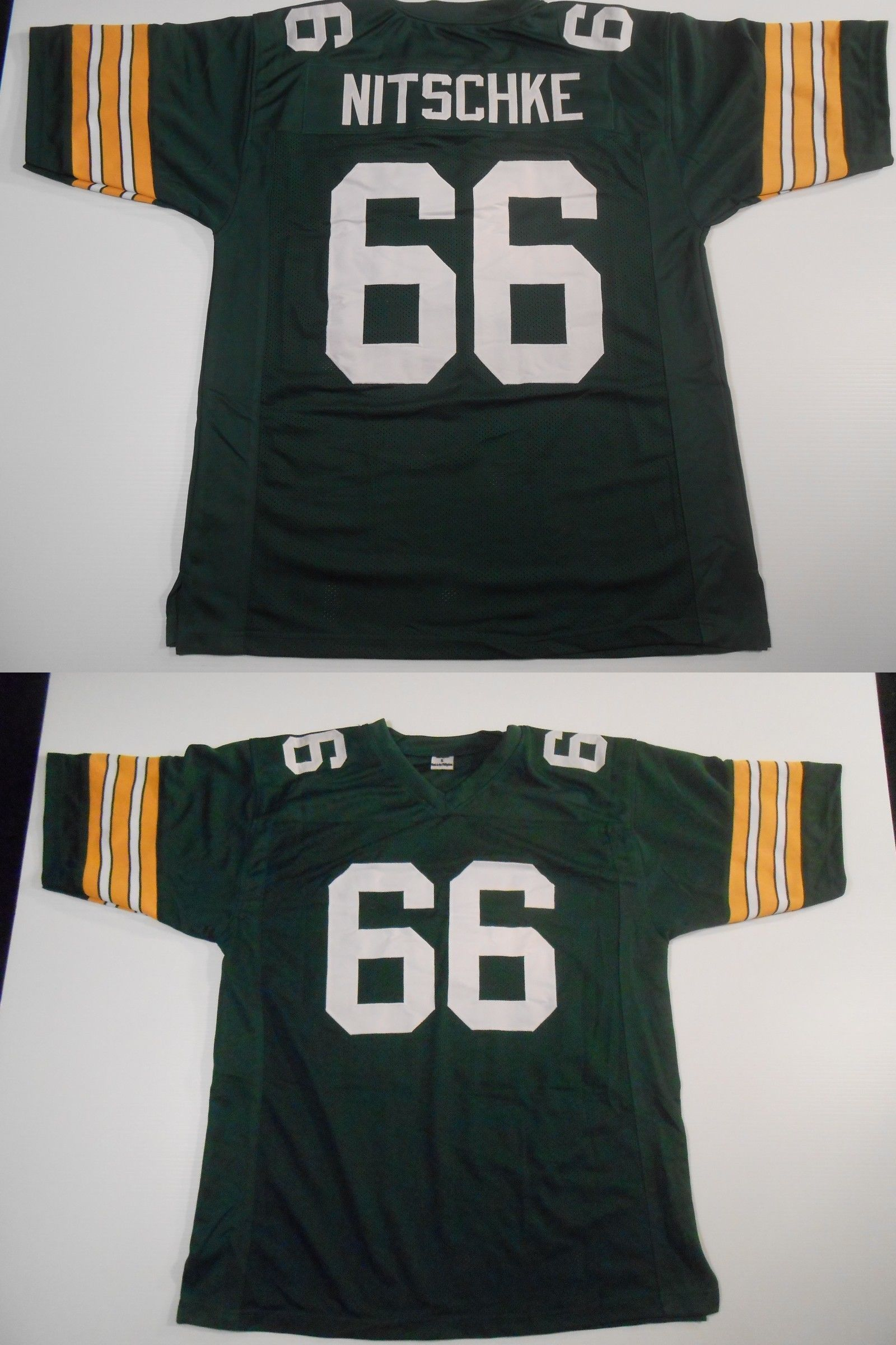 detailed look 8e031 1bf74 Football-NFL 206: Unsigned Custom Sewn Stitched Ray Nitschke ...