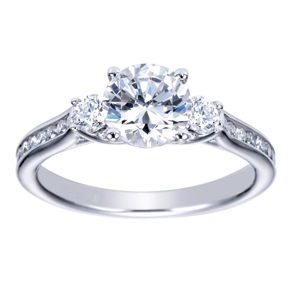 14k White Gold 1 4ct TDW Diamond and Cubic Zirconia Vintage Halo Engagement R