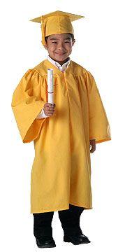 Adorable Kindergarten Graduation Cap Gown Tassel Set Great Price