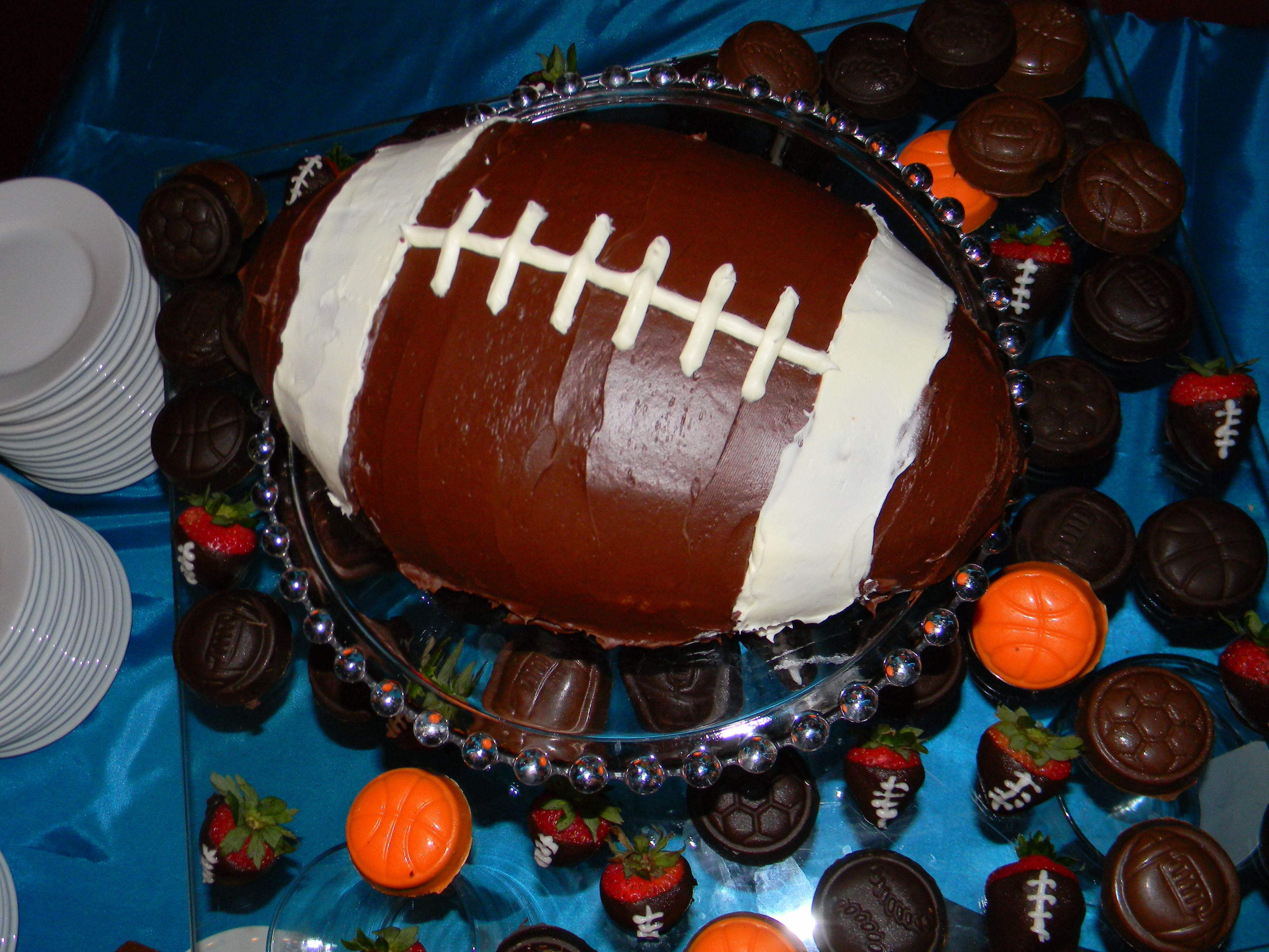Sports themed desserts