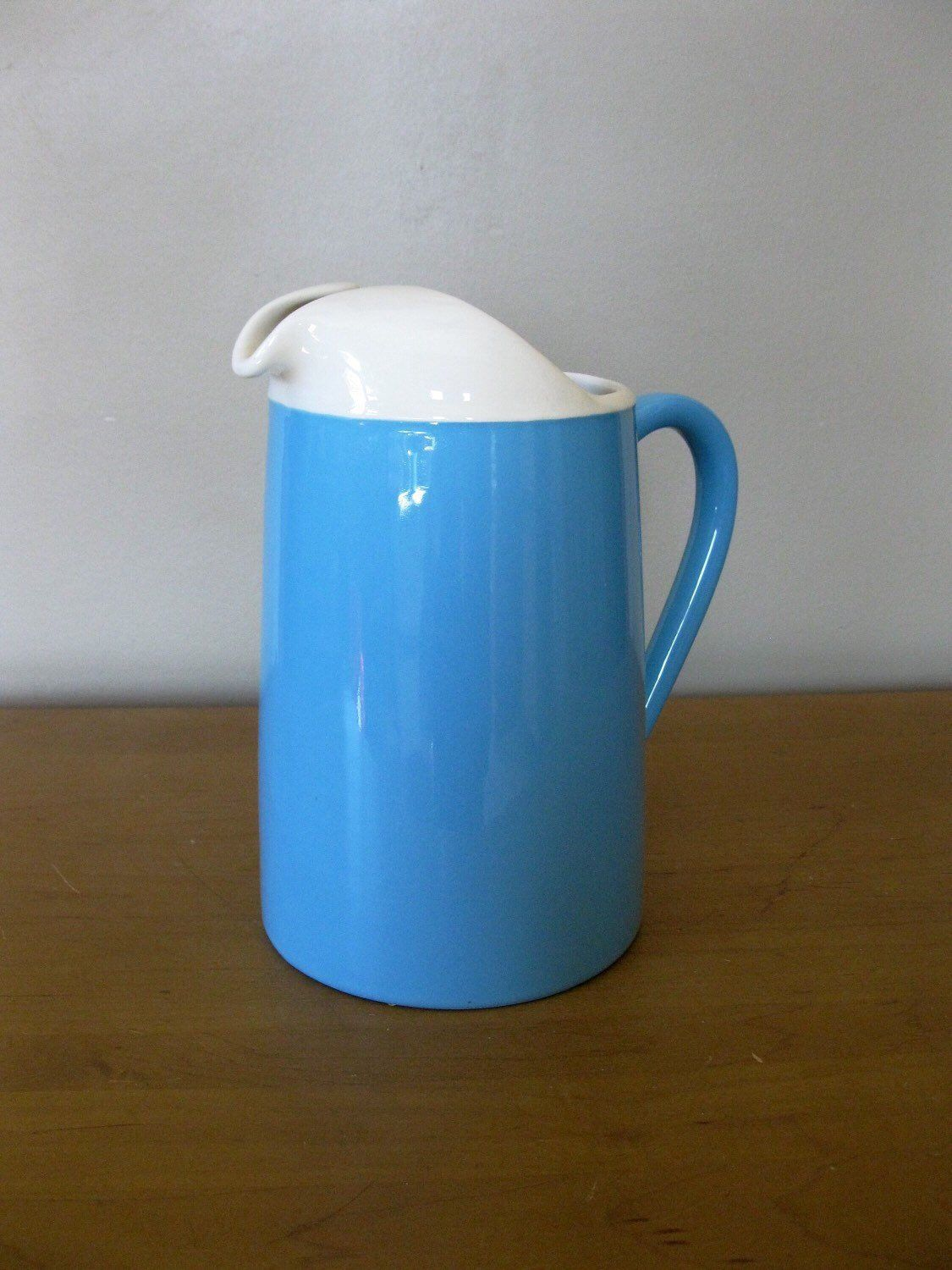1fc347e137b972 Excited to share this item from my  etsy shop  BLUE HEAVEN large Pitcher-  Rare- 2 tone - Royal China- USA - turquoise - aqua -Mid Century Modern  -1960s ...