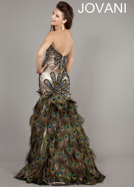 Peacock Prom Dress | images of peacock prom dress with real ...