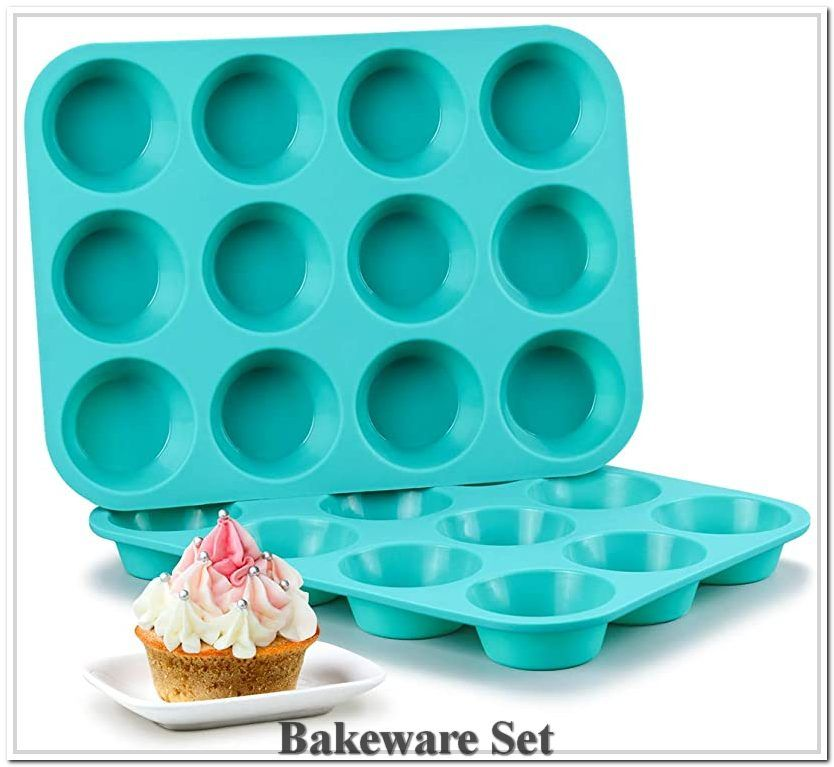 Silicone Muffin Pan Set Cupcake Pans 12 Cups Silicone Baking