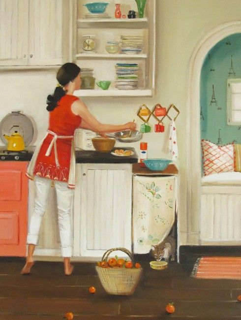Janet Hill 'Crepes For Suzette' 2013. I just ordered this print from her Etsy shop -- can't wait to get it!
