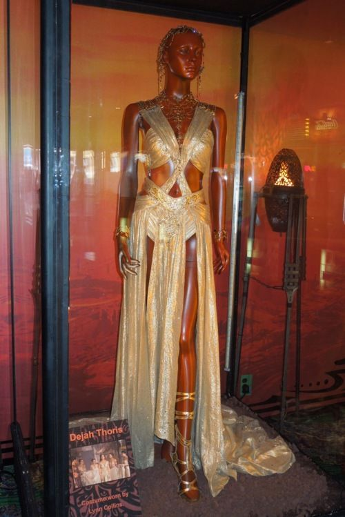 Lynn Collins Princess Dejah Thoris Wedding Costume From Disney S John Carter On Display At Movie Wedding Dresses Goddess Costume Diy Egyptian Goddess Costume
