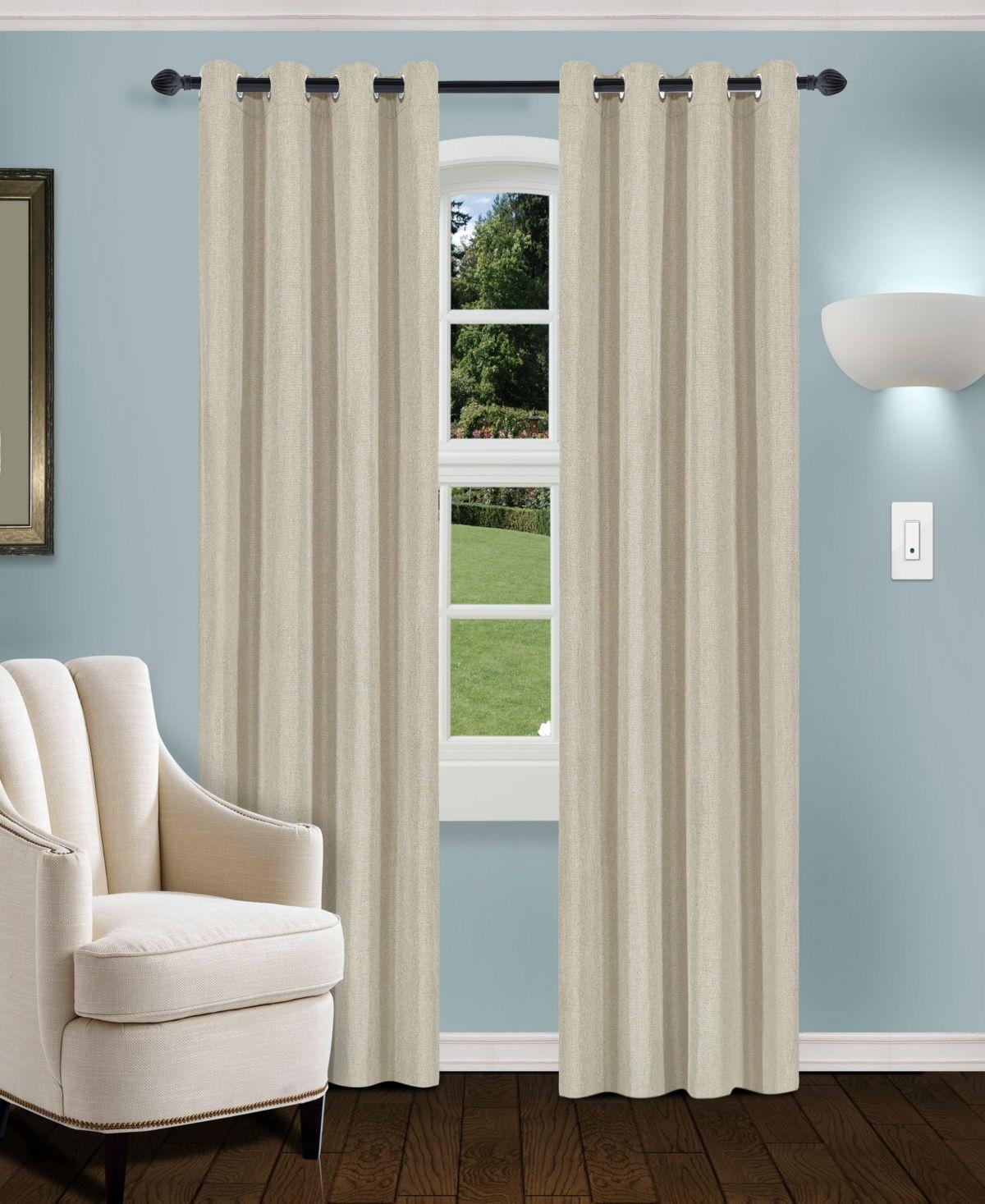Superior Linen Textured Blackout Curtain Set Of 2 52 X 108