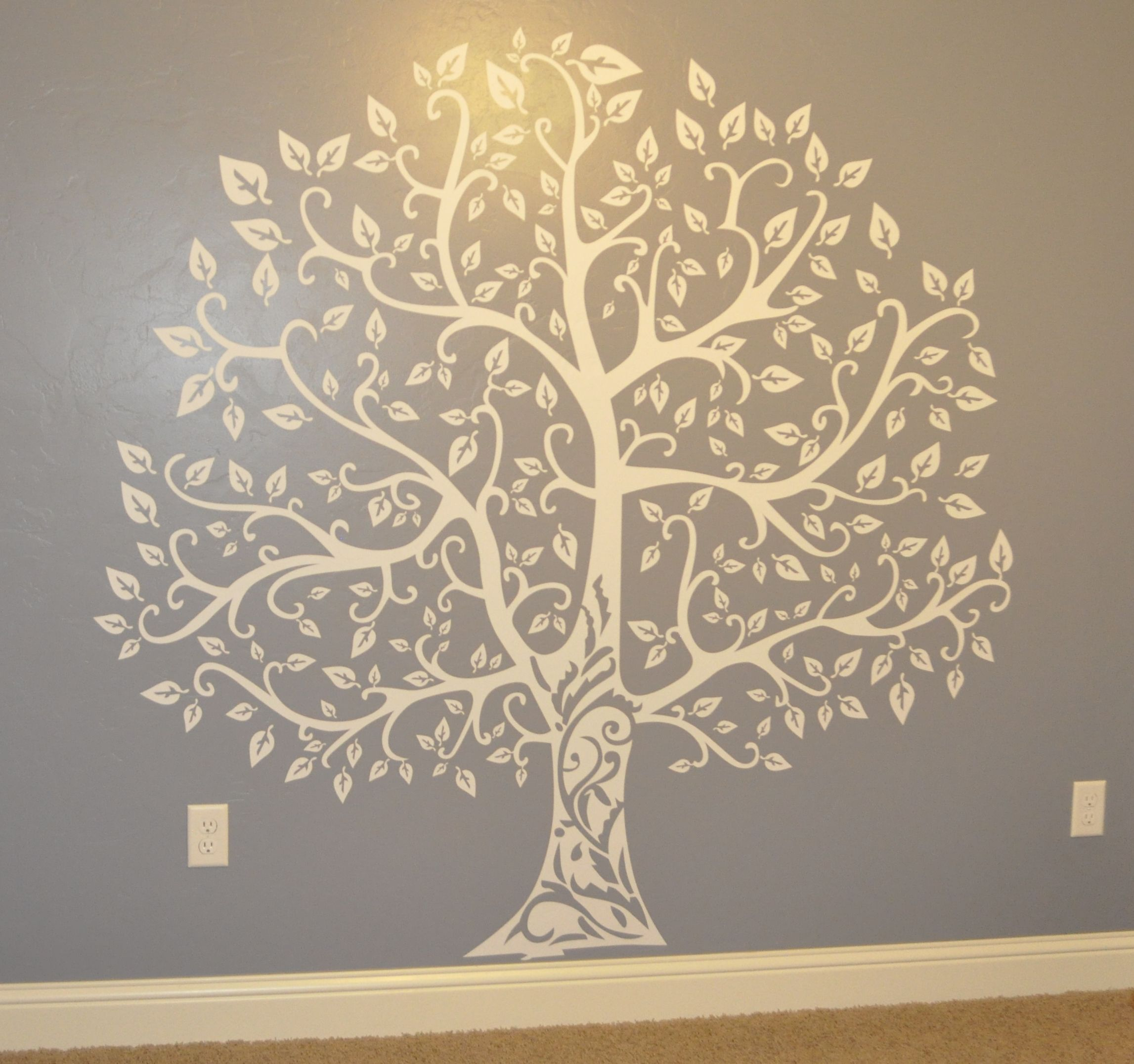 Banyan/Celtic Tree wall decal for nursery wall.   Markos or ...