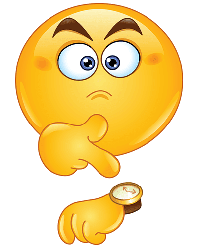 Annoyed Smiley Pointing To A Timewatch Emoticons Emojis Funny Emoticons Funny Emoji Faces