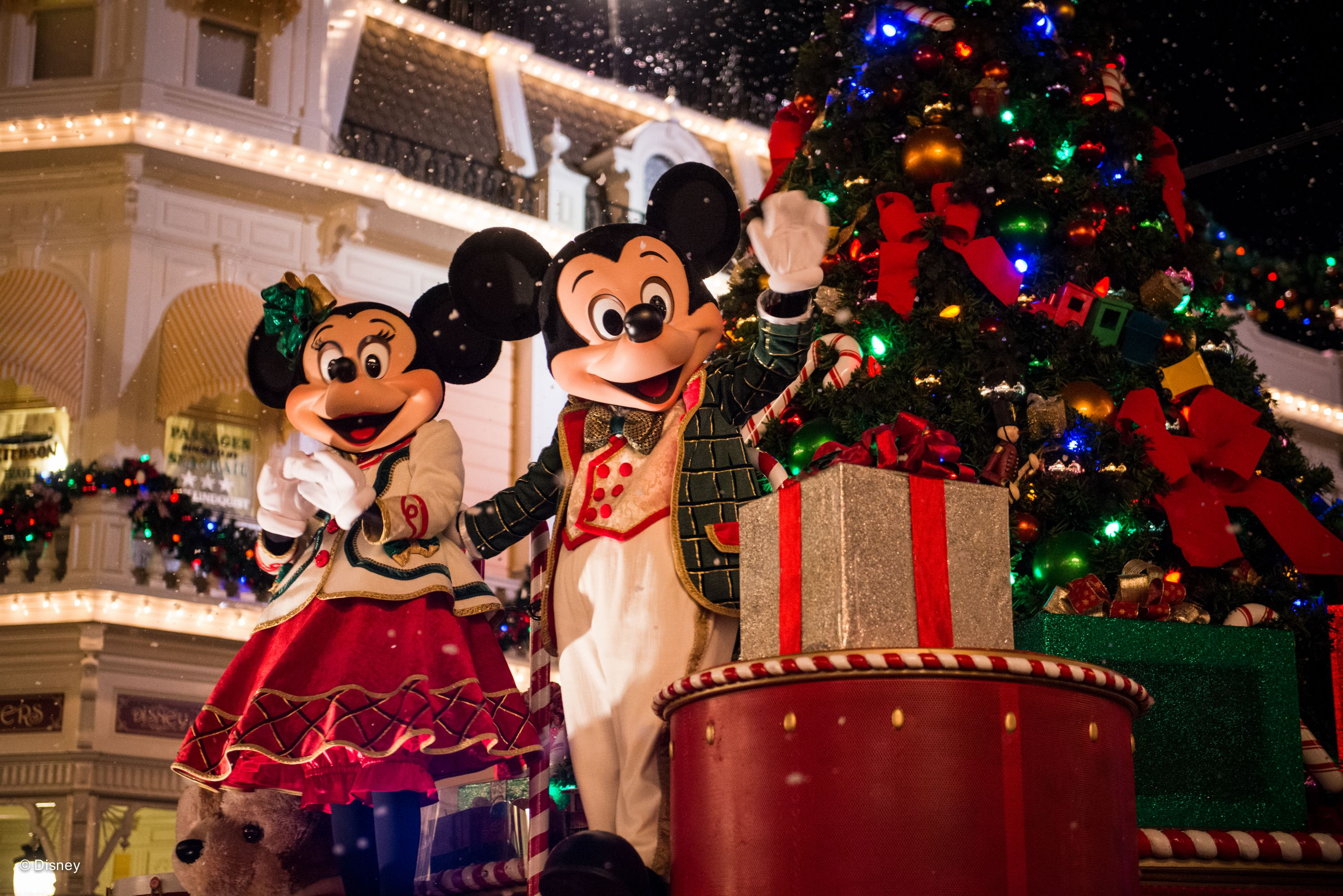 Mickey and Minnie at Christmas Walt Disney World