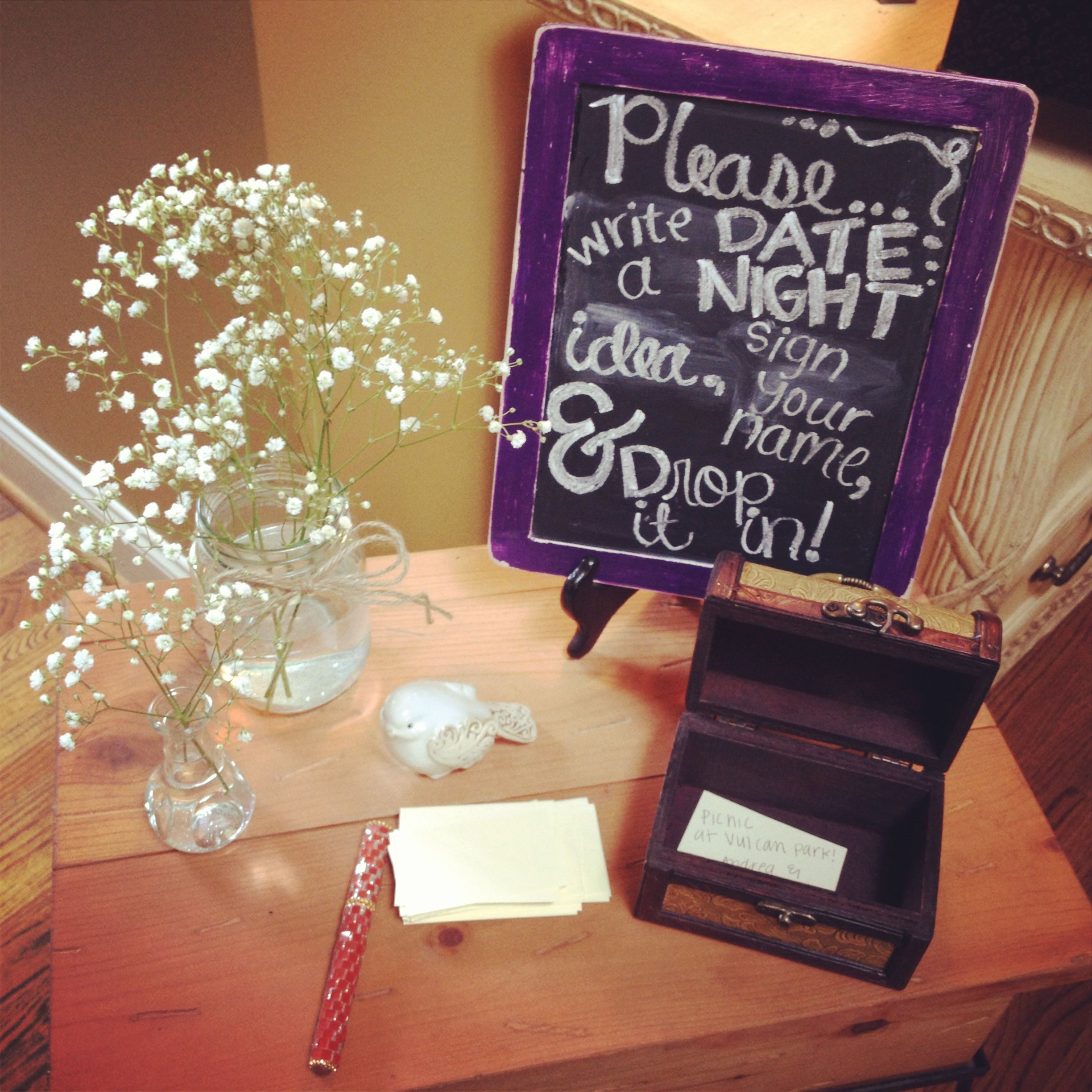 Wedding Guest Sign In Ideas: Sign In Table For A Couple's Shower Or Bridal Shower. So
