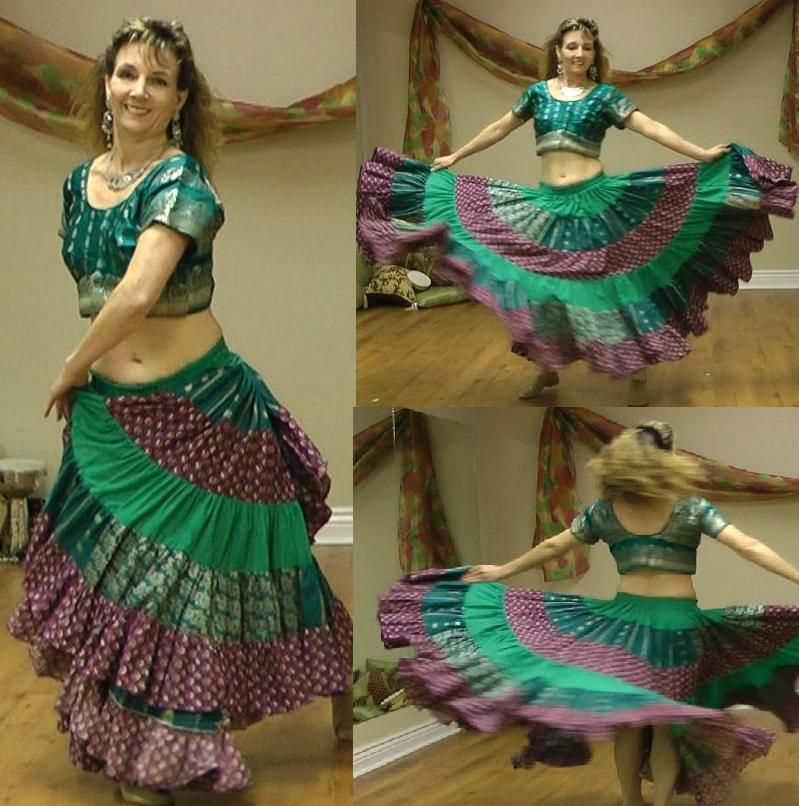 Tutorial on making a 25 yard skirt | Making belly dance costumes ...