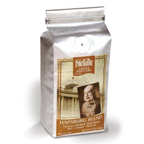 Dilettante Hapsburg Blend, Medium Dark Roast Coffee, Whole Bean, 12-Ounce Bags (Pack of 2) - http://www.teacoffeestore.com/dilettante-hapsburg-blend-medium-dark-roast-coffee-whole-bean-12-ounce-bags-pack-of-2/