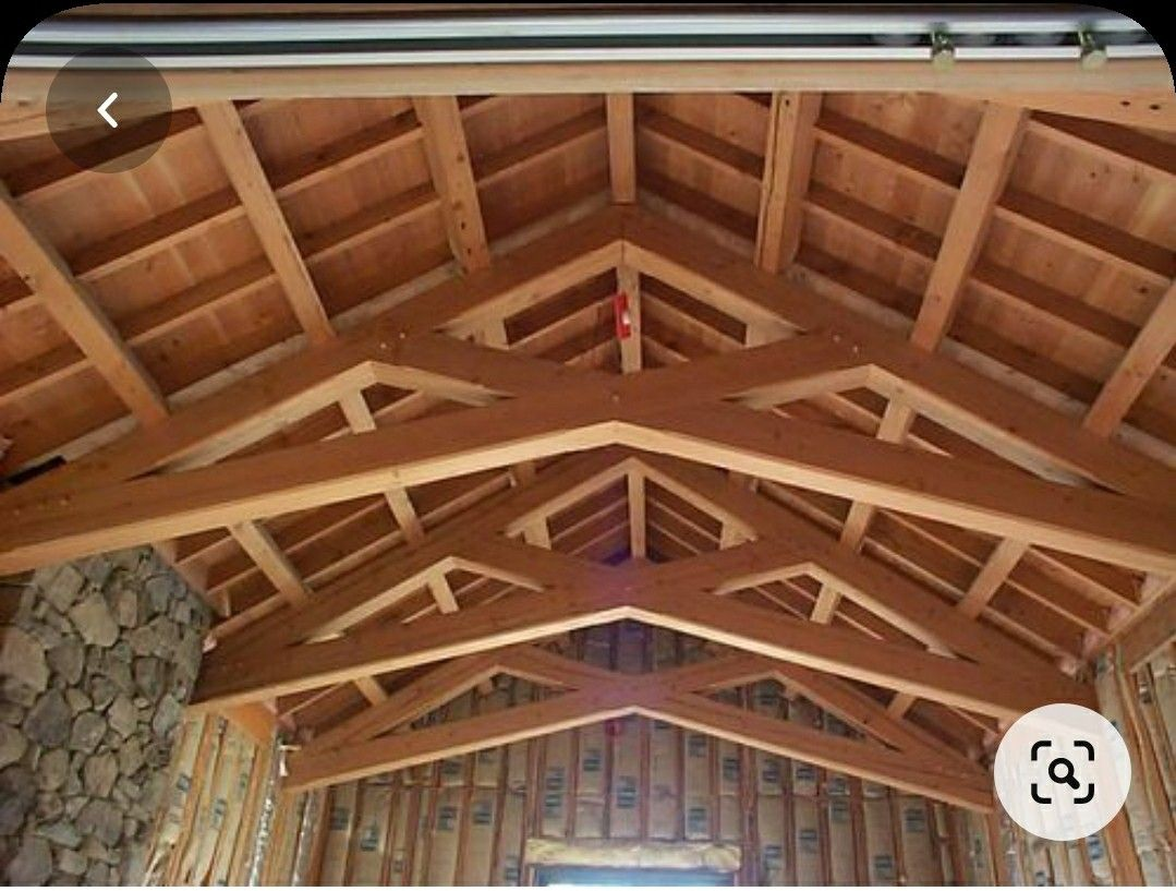 Scissor Trusses Are Going Into The New Barn In 2020 Roof Truss Design Architecture Timber Roof