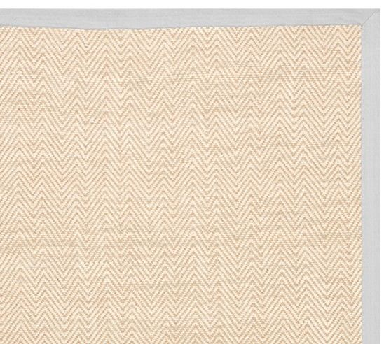 Chenille Jute Thick Solid Border Rug   Gray | Pottery Barn Kids