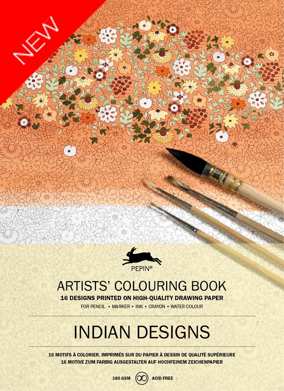 Colouring book on online - Pepin Artist S Adult Colouring Book Indian Designs