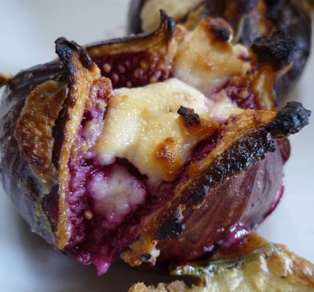 Figues rôties au chèvre | Recette avec figues, Recette figues fraiches, Recettes de cuisine