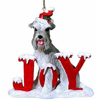 Joyful Schnauzer Christmas Ornament $9.95 | Schnauzer art