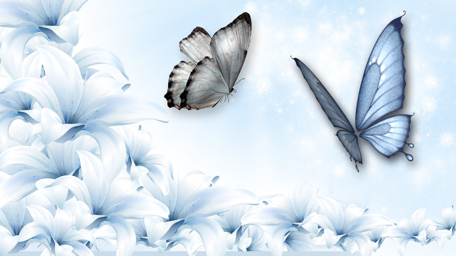 3d Abstract Butterfly And Flowers Wallpaper Abstract Art Wallpaper Butterfly Wallpaper