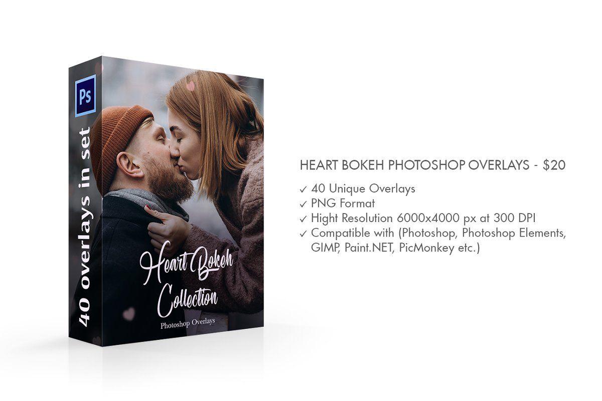 Ad Heart Bokeh Photoshop Overlays By Fixthephoto On