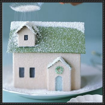 Winter Village  Paper House Template And Tutorial  Paper The