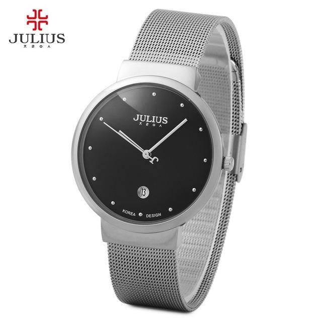 5ff30a40e38 Top Watches Men Luxury Julius Brand Men s Watches Stainless Steel Analog  Display Quartz Men Wrist watch Ultra Thin Dial Relogio