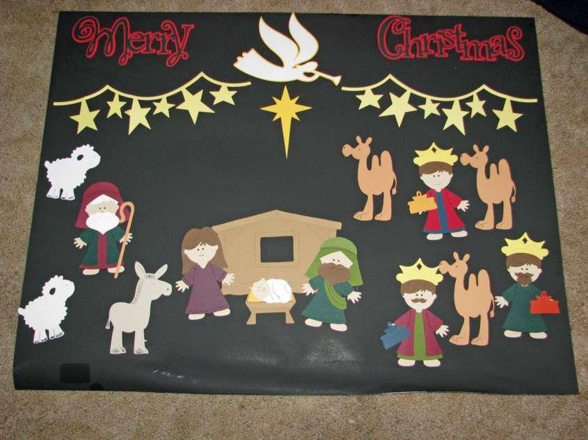 Lavoretti di Natale creativi - Cartellone Natività