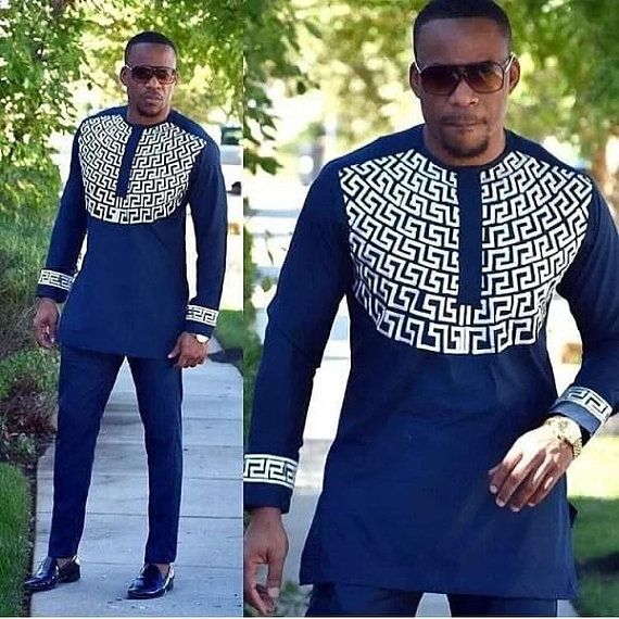 bc59bf9e Mens african wear with embroidery, embroidered mens african clothing ...
